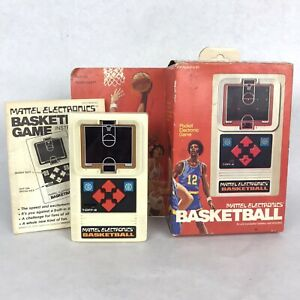 VTG 1978 Mattel Electronics Basketball Handheld Game Complete Box Manual Tested