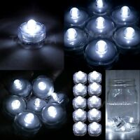 36 pcs Submersible Waterproof Battery LED Tea Light Wedding Decoration WHITE (B)