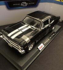 Maisto 1:18 Scale - Chevrolet Nova SS Coupe 1970 - Black - Diecast Model Car