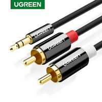 UGREEN RCA Audio Cable 0.5m 3.5mm Stereo Jack to 2 RCA Phono Y Splitter Cable