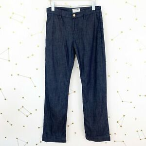 Frame Trouser Jeans Size 26 Rinse Dark Wash High Rise Le Straight Leg Chambray