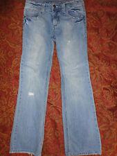 Girl's Light Acid Wash Destroyed Jeans Size 14