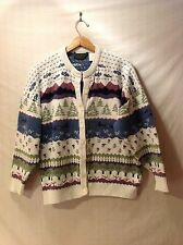 Northern Reflections Womans Button-Up Cardigan Sweater, Size Large