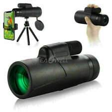 10x42 Bak4 Waterproof Hunting Camping Phones Monocular+Clip+Tripod For Phone Usa
