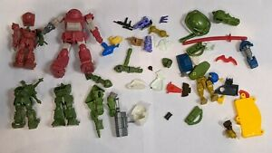 Vintage Japanese 80's & 90's Model Kit Robot Lot & Parts #1