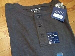 NWT $30. - $36. MSRP Mens Henley Croft & Barrow Cotton Blend Long Sleeve Shirt