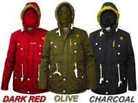 Men Soul Star Jacket Multi Pockets Fur Hood Fully Padded Lined Winter Coat