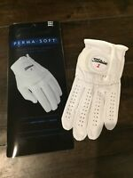 TITLEIST Perma-Soft Cabretta Leather Golf Glove w/ CoolMax, Left hand Pearl