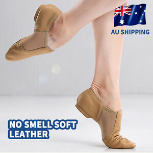 AU STOCK Soft Ballet Jazz Dance Shoes Split Sole for Adults Child