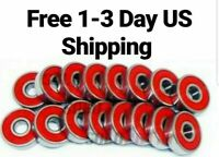8-pk RED Abec 11 Wheel bearings Skateboard stunt scooter inline Roller skate 9