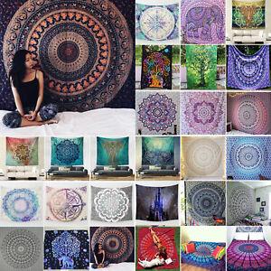 Indian Boho Mandala Wall Hanging Tapestry Throw Bedspread Yoga Mat Cover Blanket