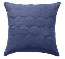Bianca Vivid Coordinates Moonlight Blue Quilted European Pillowcase RRP $34.95