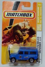 '97 LAND ROVER DEFENDER 110 * 2009 MATCHBOX * BLUE DESERT ADVENTURE MTN BIKE
