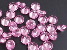 1x Pink Cubic Zirconia 6mm Round Gemstone - UK