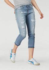 Please Jeans P36H JEANS 7/8 Destroyed Hose Light Blue Used Neu