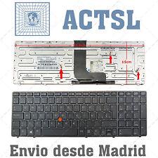Teclado Español para HP EliteBook 8570w Gray frame Gray