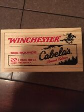 cabelas limited edition wooden ammo box no ammo included