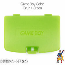 Game Boy Color GBC Battery Cover Back Door Case compartment - Apple / Lime Green