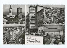 Gruß aus dem Turm-Cafe - Karlsruhe - original alte AK PK Karte Postkarte