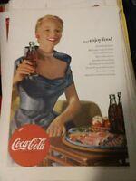 July 1952 Coca-Cola Coke Print Ad National Geographic Enjoy Food