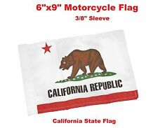 """Pro Pad Motorcycle Flag 6""""x9"""" State of California Flag Fits 3/8"""" Flag Poles"""