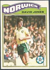 TOPPS 1978 FOOTBALLERS #108-NORWICH CITY-DAVID JONES
