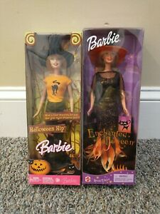 Lot Of 2 New Mattel Enchanted Halloween Barbie Special Edition And Halloween Hip