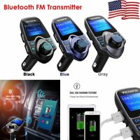 VICTSING Bluetooth Wireless FM Transmitter Car Kit MP3 Radio Adapter USB Charger