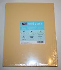 Stampin Up Retired 8.5 x 11 Card Stock 24 pack So Saffron New 80 LB