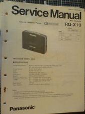 Technics / Panasonic RQ-X10  Mini Cassette  Service Manual
