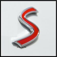 S Badge Emblem Decal Letters Sticker Mini Cooper Boot Tailgate Rear Trunk T38