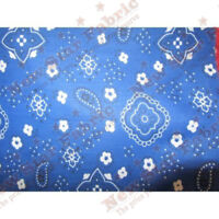 Poly Cotton Bandana Fabric 58 inches width sold by the yard Royal Blue