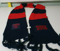 MELBOURNE FOOTBALL CLUB MEMBER 2016 THE DEMONS SCARF NAVY AND RED SOFT OFFICIAL