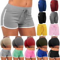 Damen Sports Kurzhose Mini Shorts Hotpants Trainings Yoga Laufhose Sweathose