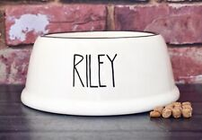 Extra small slanted dog bowl hand painted personalised ceramic cat bowl cat dish