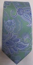 John W Nordstrom Silk Tie -  Green Blue in color Paisley Made in Italy 3.25x59.5