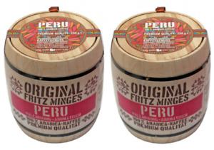 Kaffeebohnen Minges Peru Hochland Arabica im Holzfass 2 x 250 g (500 g)