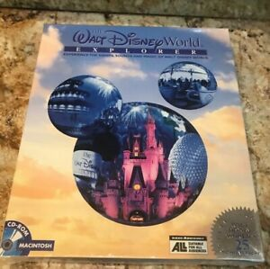 NEW Walt Disney World Explorer CD ROM MAC Experience Sounds & Magic