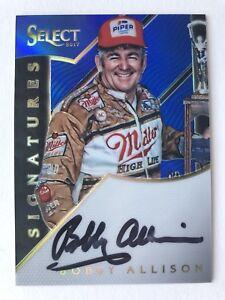 "NASCAR bobby Allison signed Approx 3"" X 2"" photo Card"