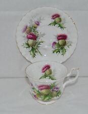 "Beautiful Royal Albert ""Highland Thistle"" Fine Bone China Tea Cup and Saucer"