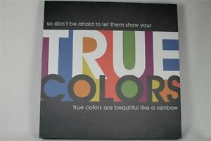 Lyricology 'True Colors' Wall Art by Demdaco Inspired By Great Songs #101680 NEW