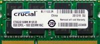 Crucial ram memory 8GB DDR3 PC3-12800,1600MHz  for 2012 Apple Macbook Pro's