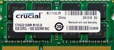 Crucial Ram 8 Gb de memoria DDR3 PC3-12800, 1600MHz para 2012 Apple Macbook Pro