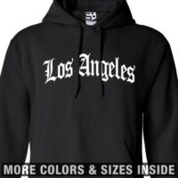 Los Angeles OE Arch HOODIE Old English LA Hooded Sweatshirt - All Sizes & Colors