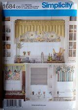 Simplicity Sewing Pattern 1684 Window Treatments Valance Roman Shade Valances