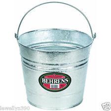 BEHRENS GALVANIZED METAL 10 QT WATER BUCKET PAIL TUB 10 Quart