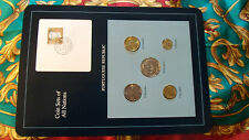Coin Sets of All Nations Portugal Portuguese w/ card 1989 - 1991 UNC