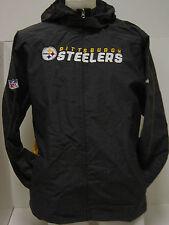 NEW Youth M (10-12) Reebok Steelers Lightweight Wind Hooded Jacket Onfield NFL