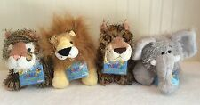 Webkinz Jungle Plush Lot 4 NWT Ganz Tiger Lion Leopard 006, 007, 031, 032 Codes