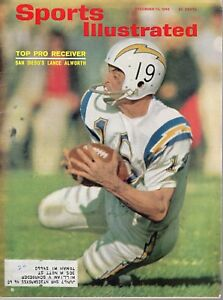 1965 Sports Illustrated football magazine Lance Alworth, San Diego Chargers VG